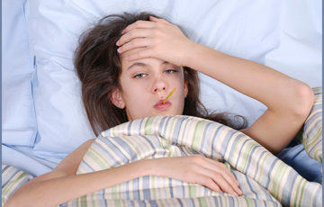Girl being sick