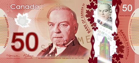Canadian 50 dollar bill