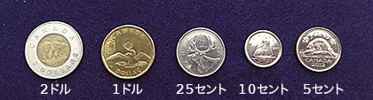 5 main Canadian coins