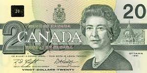 Old Canadian $20dollar bill