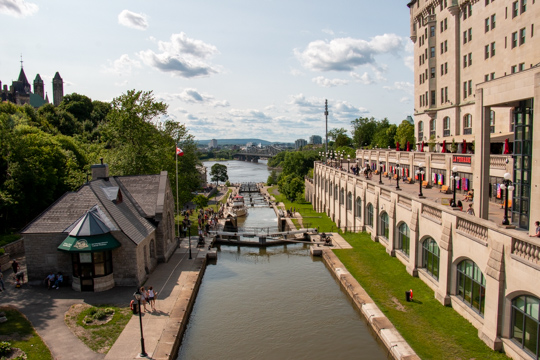 Redeau canal looking from the Plaza bridge