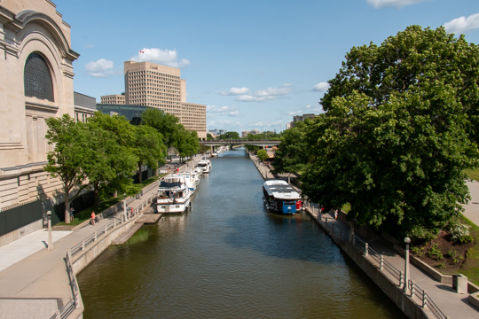 Rideau Canal looking east