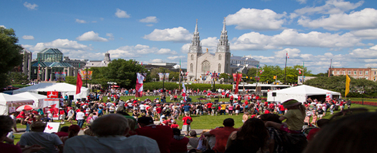 Canada day at the park