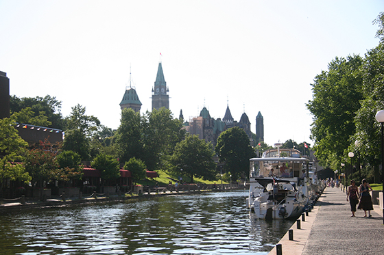 Rideau canal with Parliament Building