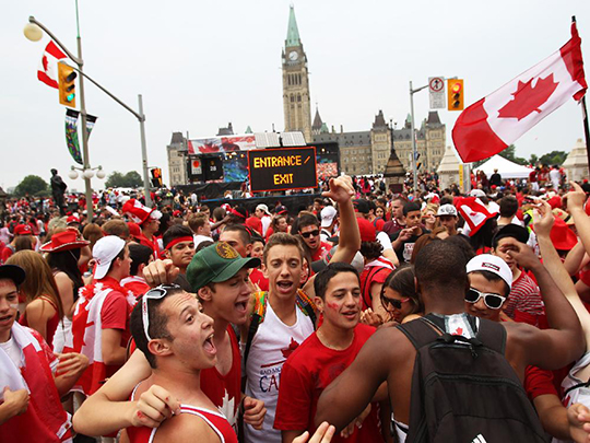 canada day in front of Parliament Hill