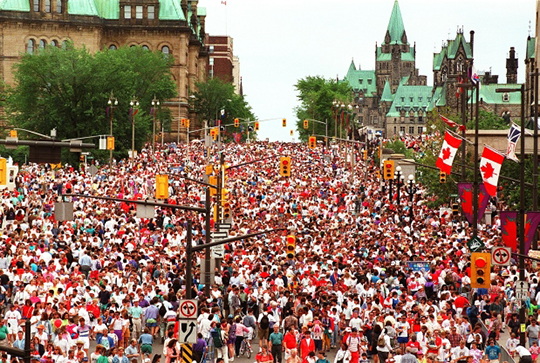Canada day downtown Ottawa
