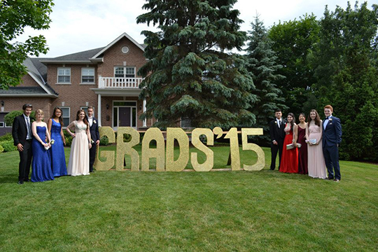 Prom garden party