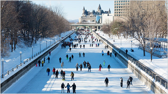People skating on Rideau canal