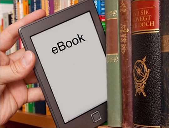 e_book among regular books