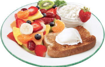 toasts with fruits