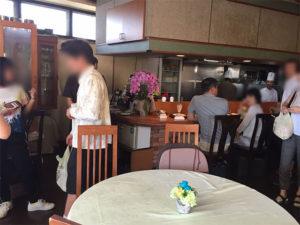People walking in the restaurant