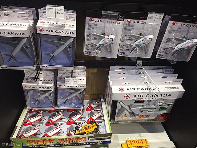 Toy airplanes sold at the airport