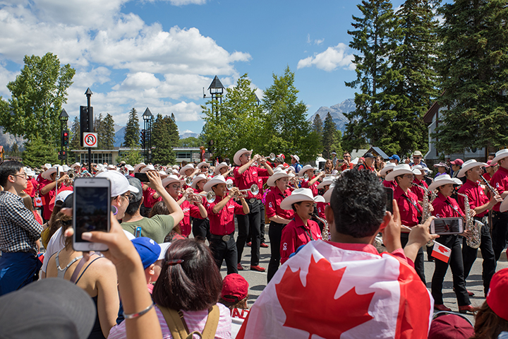 Canada Day marching