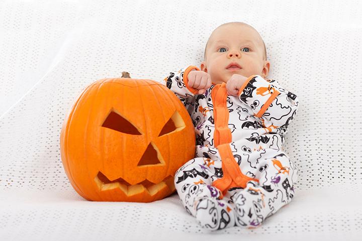 halloween dressed baby