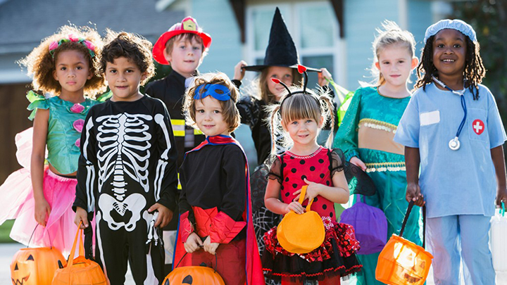 Kids dressed for Halloween