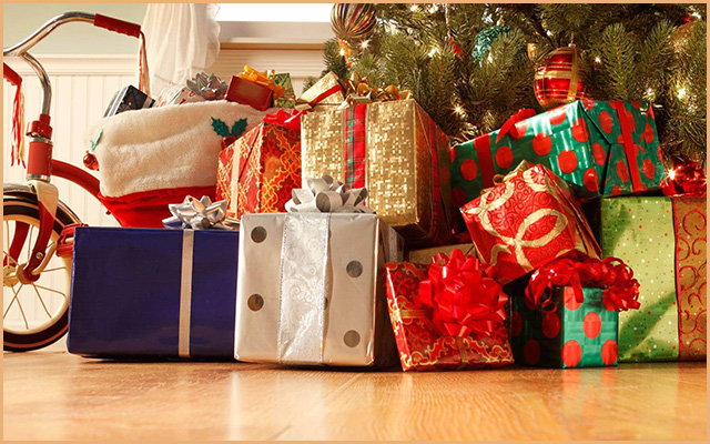 The presents under the tree