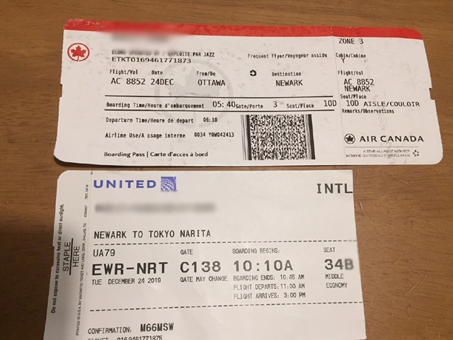 Two Air tickets
