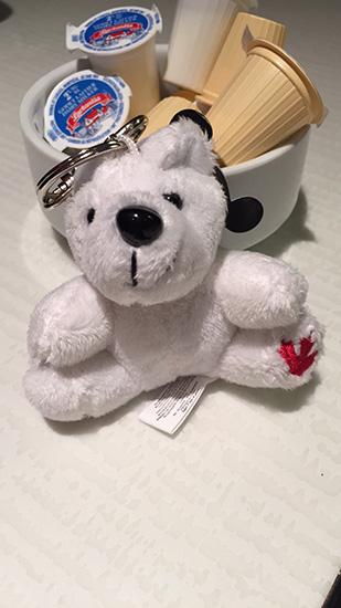 Canada bear keychain