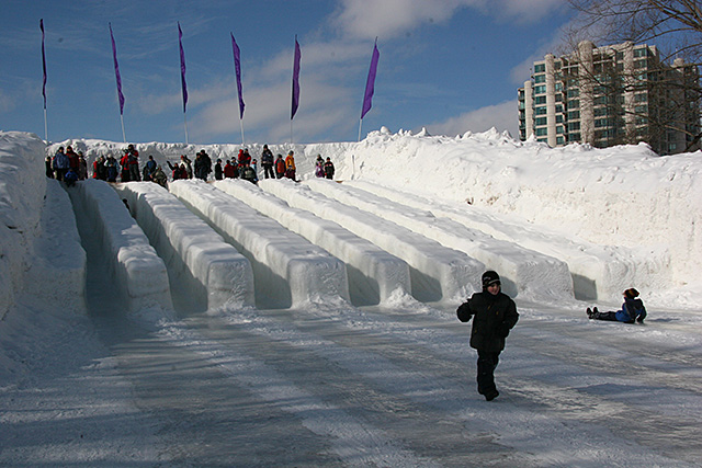 ice slide at winterlude