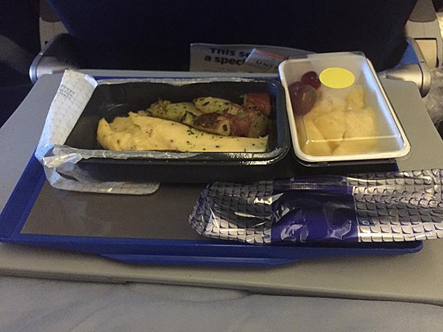 breakfast in the plane
