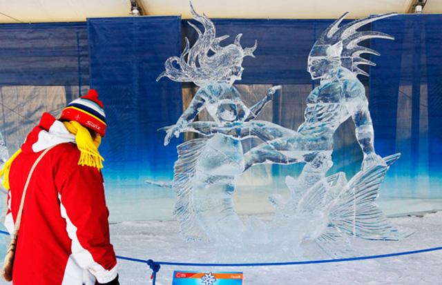 Ice sculpture daytime