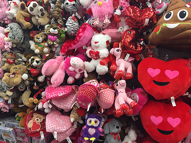 Valentine stuffed animals
