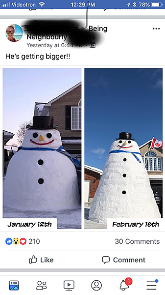 Two big snowmen
