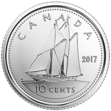 Canada 10 cent coin
