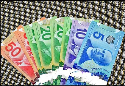Picture of Canadian dollar bills