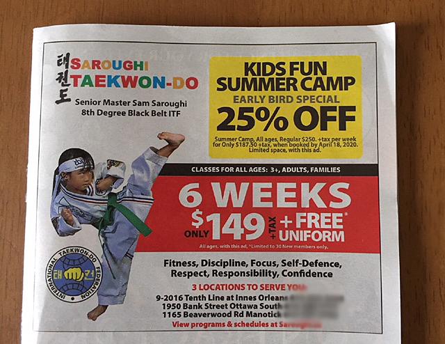 child sports Taekwondo