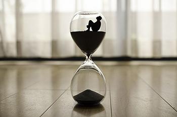 A sand clock