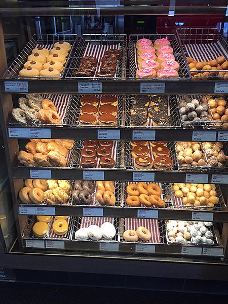 Tim Hortons donuts shelf
