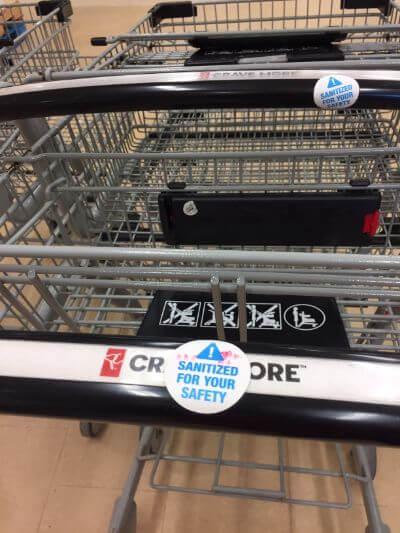 Shopping cart handles