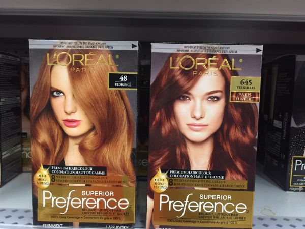 Red Hair Colours