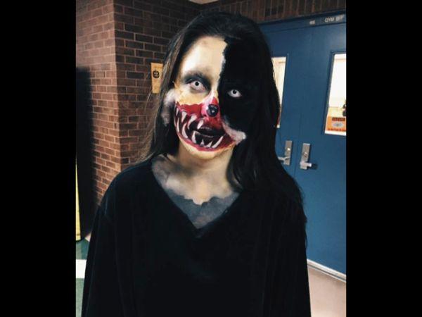 ハロウィン仮装 怖い顔